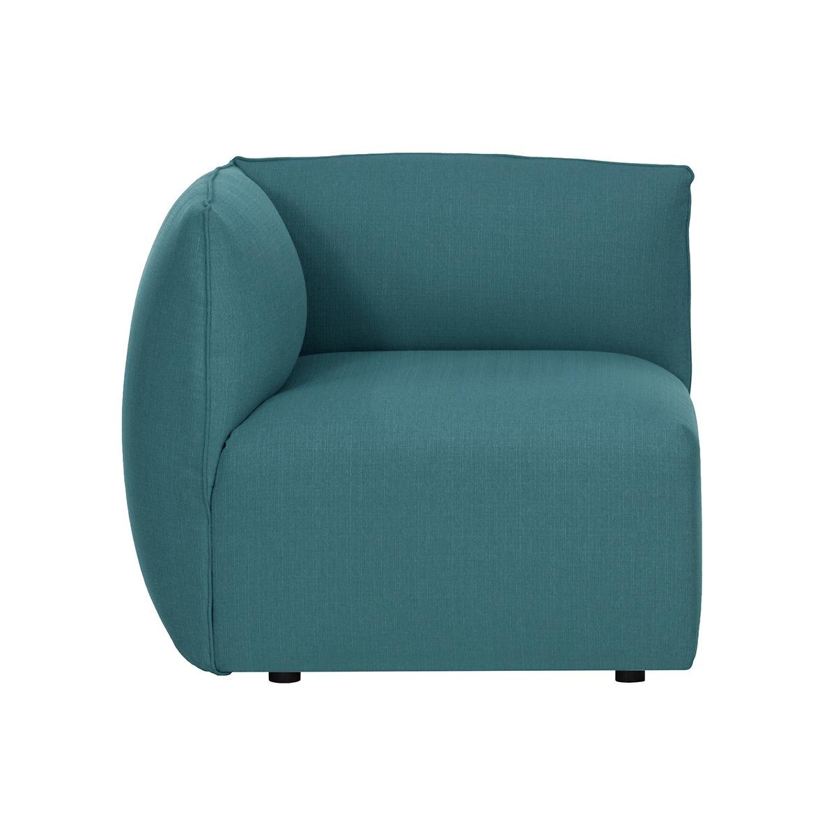 Angle de canapé design tissu bleu canard MODULO