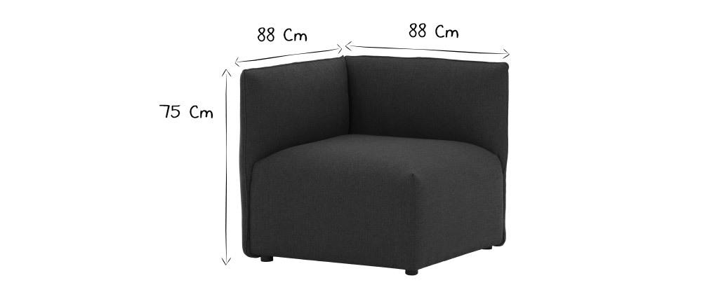 Angle de canapé design tissu gris foncé MODULO