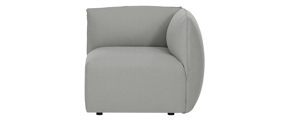 Angle de canapé design tissu gris MODULO