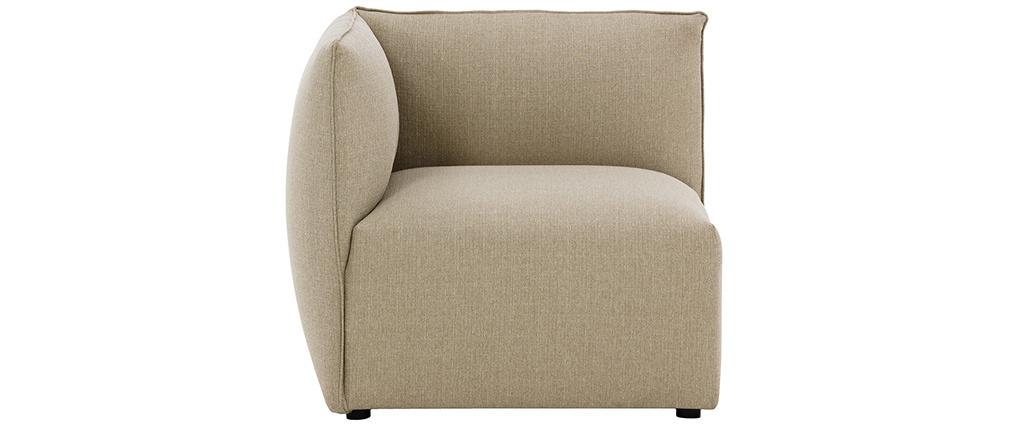 Angle de canapé design tissu taupe MODULO