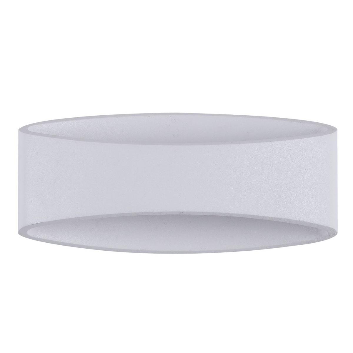 Applique d'extérieur design ovale en métal blanc MODE