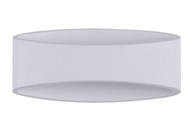 Applique d extérieur design ovale en métal blanc mode miliboo