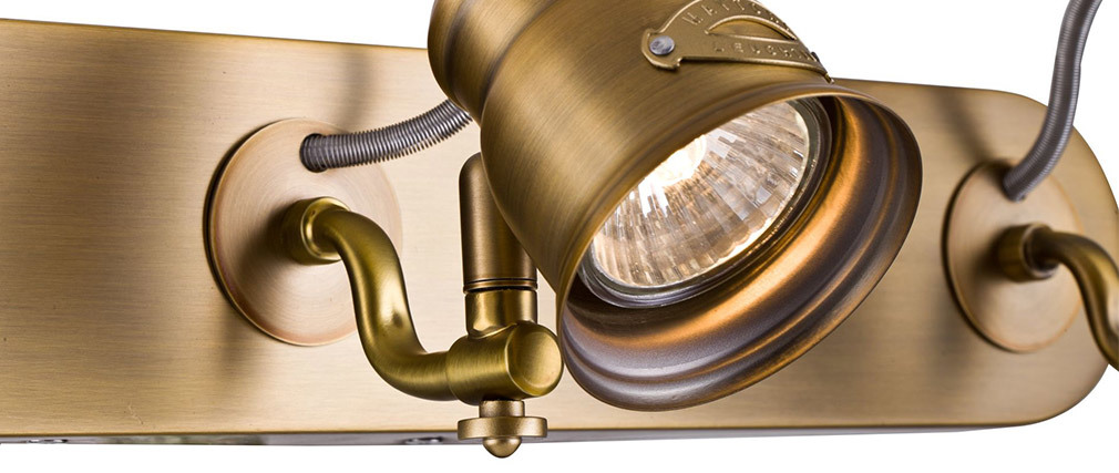 Applique murale design 3 lampes en laiton BORGO