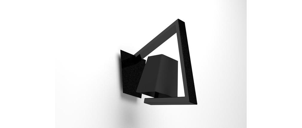 applique murale design noir crossfade miliboo. Black Bedroom Furniture Sets. Home Design Ideas