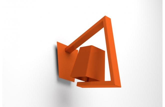 Applique murale design orange crossfade miliboo for Applique murale design noire