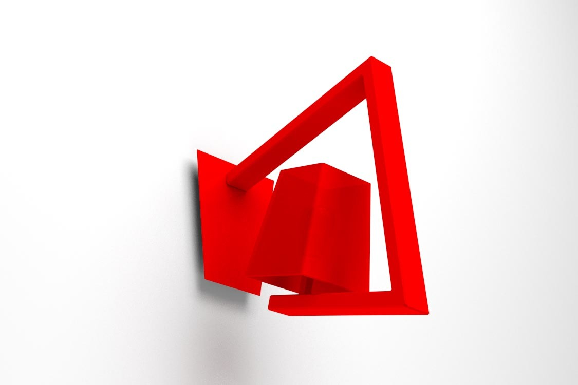 applique murale design rouge crossfade miliboo. Black Bedroom Furniture Sets. Home Design Ideas