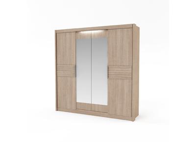 Armoire 4 portes design bois clair BEA