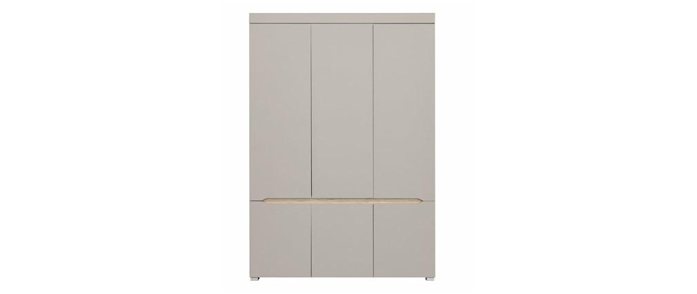 Armoire design 6 portes avec penderie et miroir WILLY