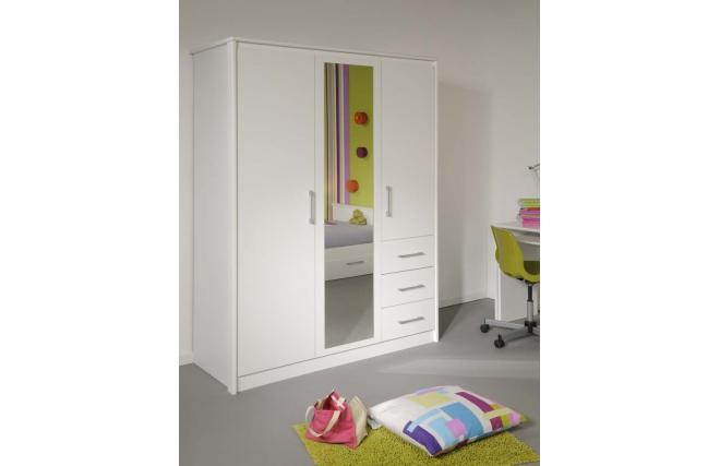 Armoire design avec miroir blanche pablo miliboo for Miroir des modes 427