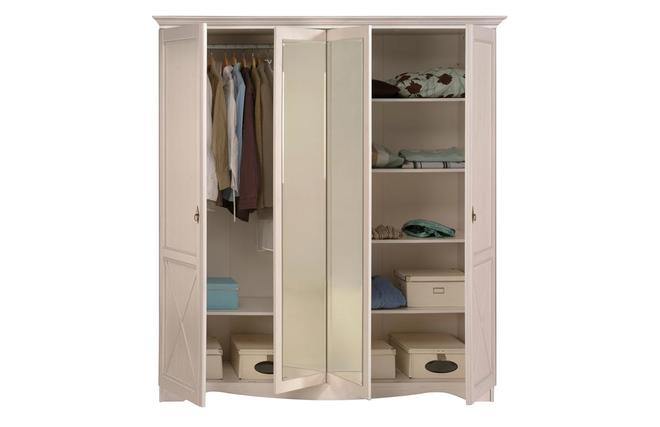 armoire design blanche avec miroir barok miliboo. Black Bedroom Furniture Sets. Home Design Ideas