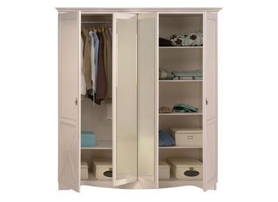 Armoire Design blanche avec miroir  BAROK