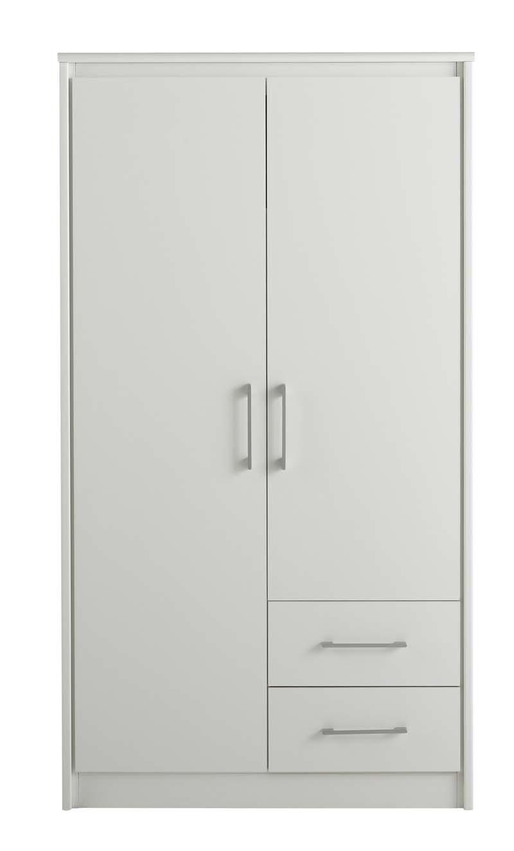 armoire design blanche pablo miliboo. Black Bedroom Furniture Sets. Home Design Ideas