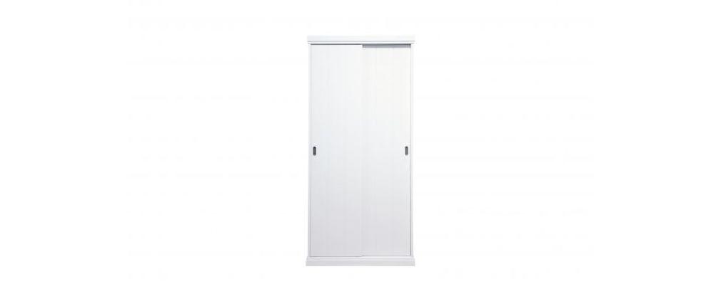 armoire design en bois blanc bross marvin miliboo. Black Bedroom Furniture Sets. Home Design Ideas