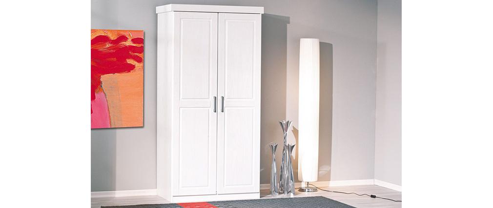 Armoire pin blanc 2 portes CLARA