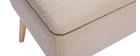 Banc coffre en tissu beige et bois clair LARS