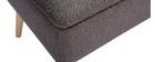 Banc coffre en tissu gris foncé et bois clair LARS