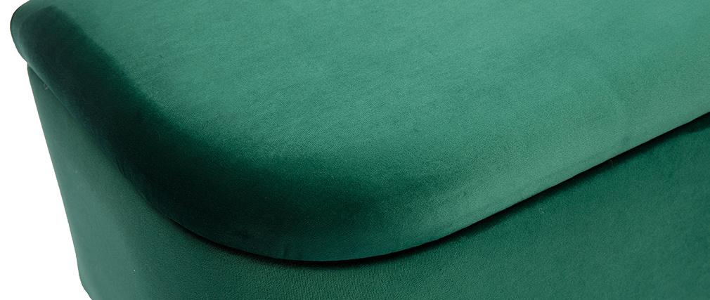 Banc coffre en velours vert ATON
