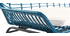 Banc de jardin en fils de résine bleu canard TANGO