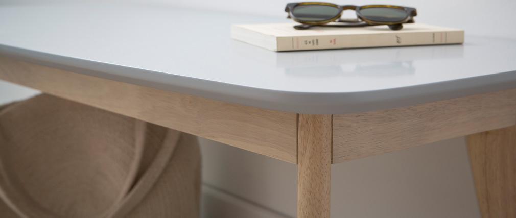 Banc design 100 cm gris clair LEENA