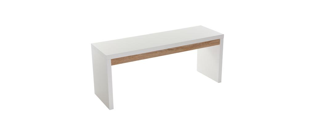banc cuir blanc design banc design amalth e banc de lit effet cuir blanc dezina banc design. Black Bedroom Furniture Sets. Home Design Ideas