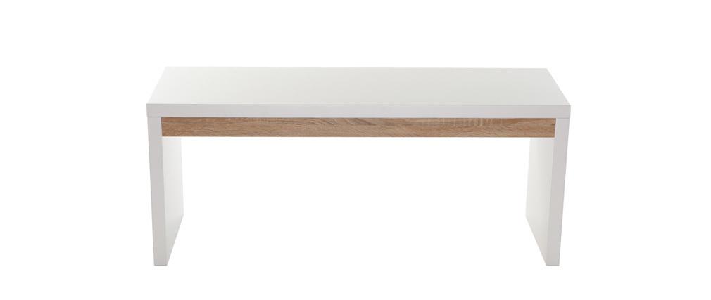 Banc design blanc mat sigrid miliboo - Banc cuir blanc design ...