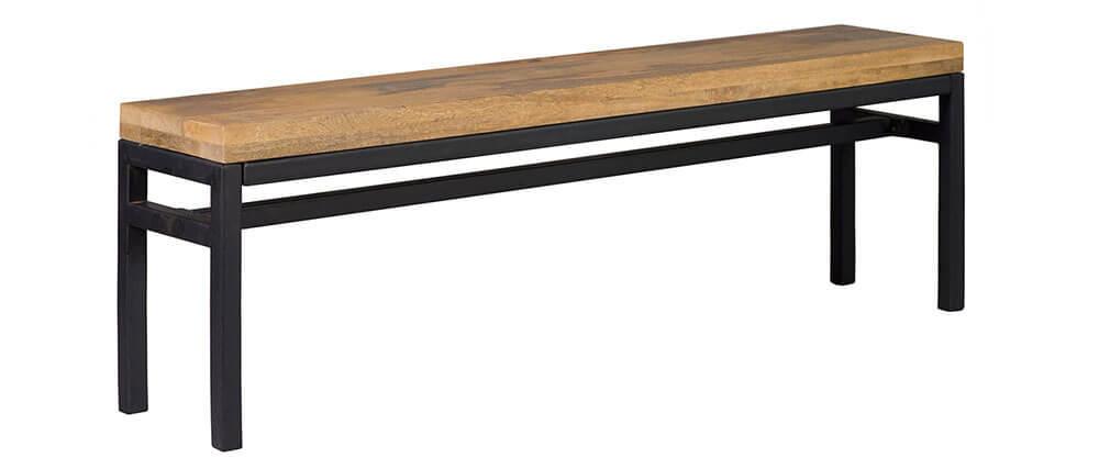 Banc industriel bois et métal 140 cm YPSTER