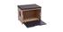 Banc maison de toilette pour chat bois clair et gris BERLIOZ