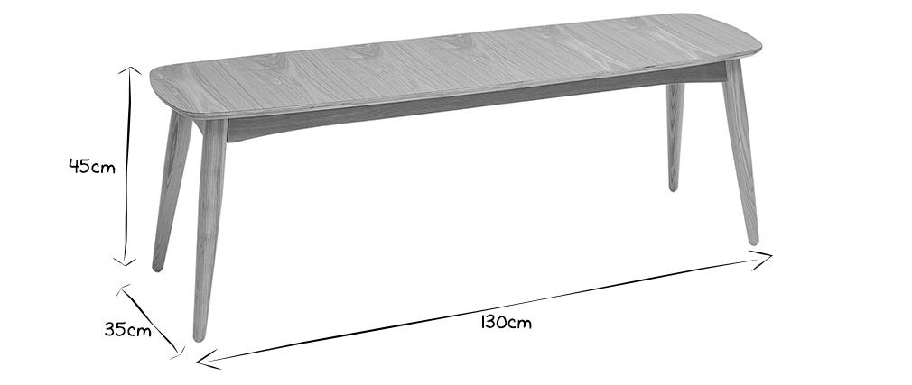 Banc scandinave frêne L130 cm NORDECO
