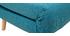 Banquette convertible 2 places en tissu bleu canard AMIKO