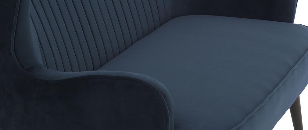 Banquette design en velours bleu VERTIGO