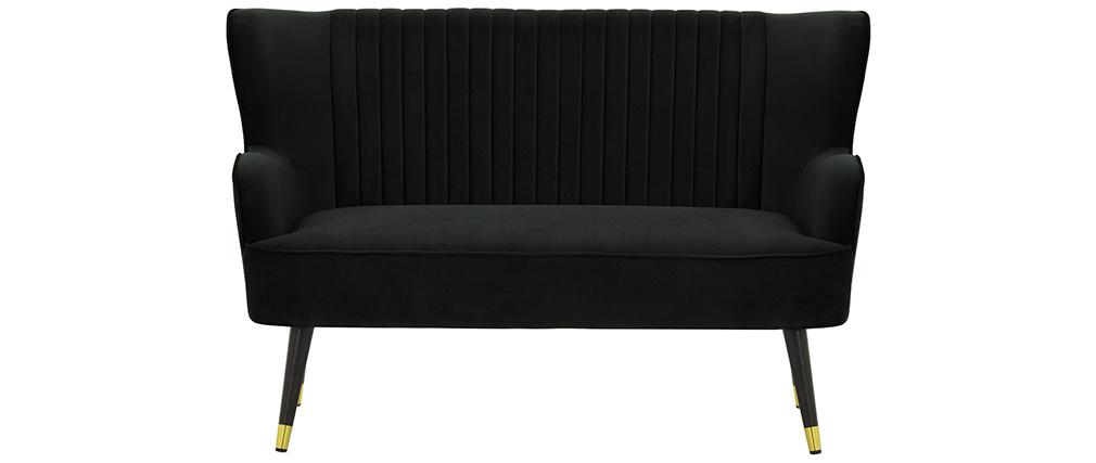 Banquette design en velours noir VERTIGO
