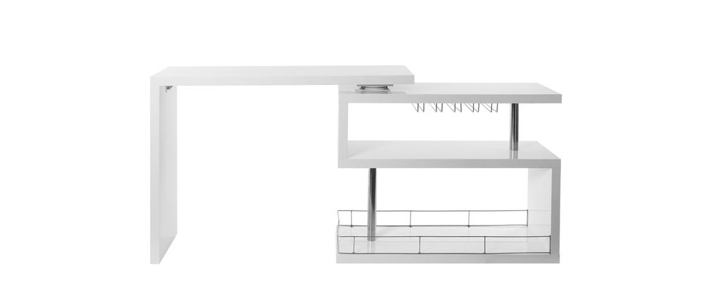 pour ma famille bureau design blanc laque amovible max mdf
