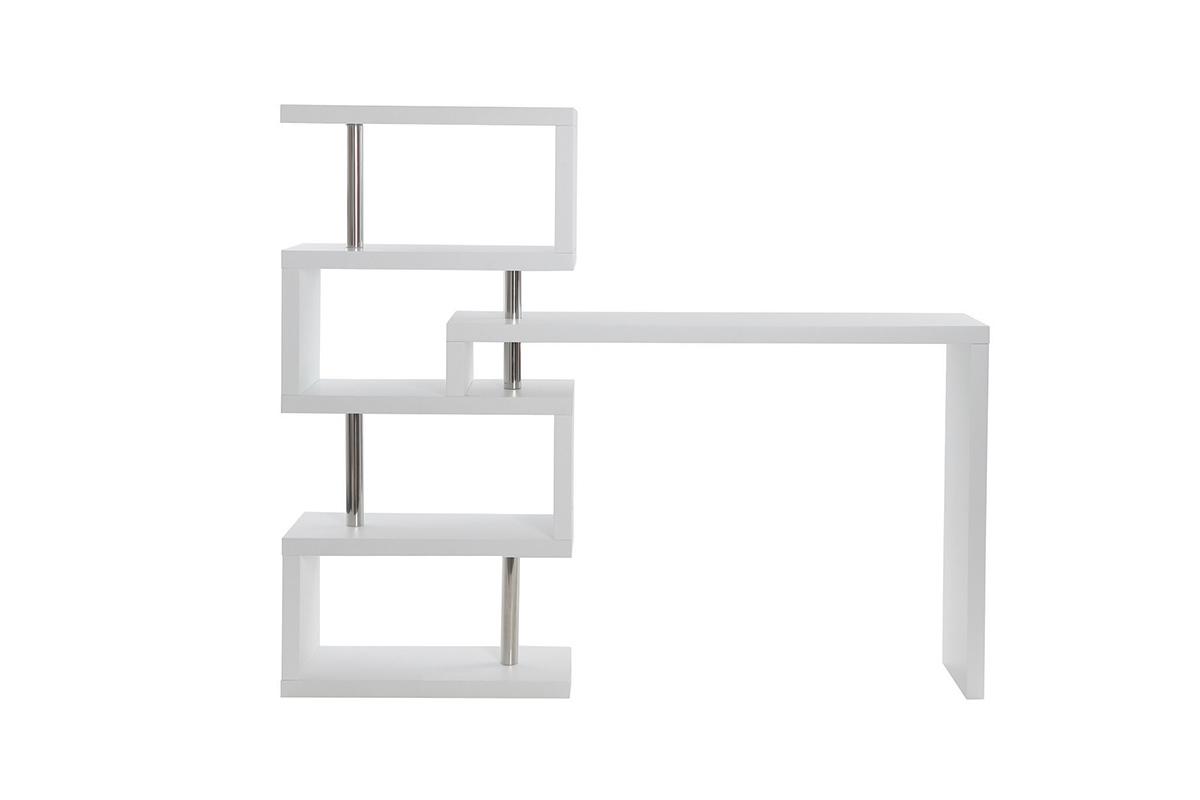 bar et tag re design blanc mat t max miliboo. Black Bedroom Furniture Sets. Home Design Ideas