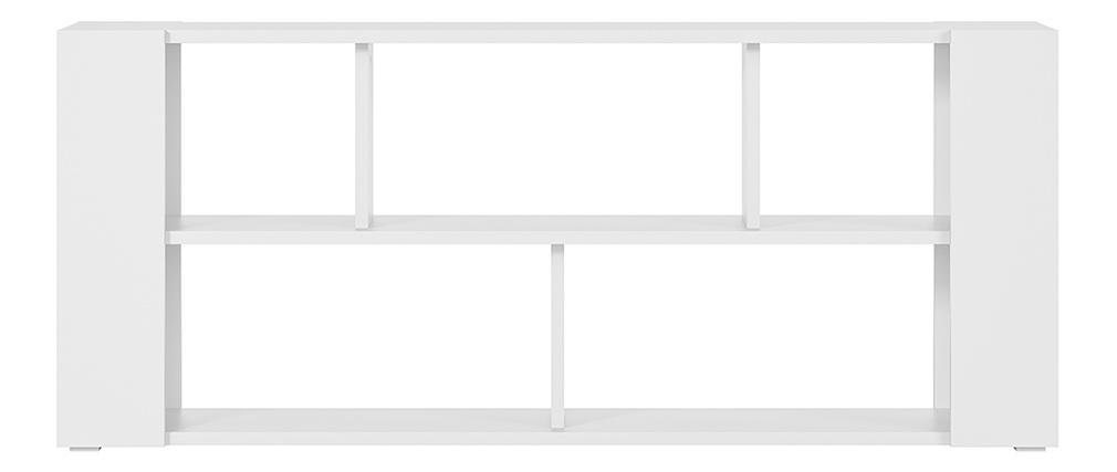 Bibliothèque basse design blanche L168 cm MUSSO