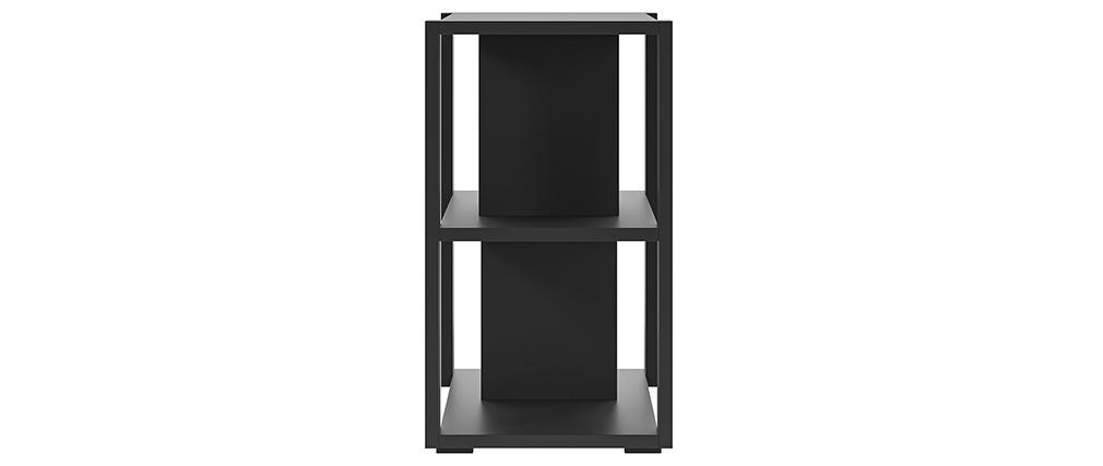 Bibliothèque basse design noire L168 cm MUSSO