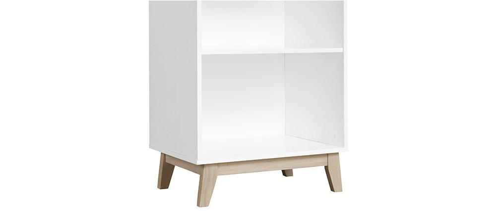 Bibliothèque design blanche avec 4 étagères LEENA