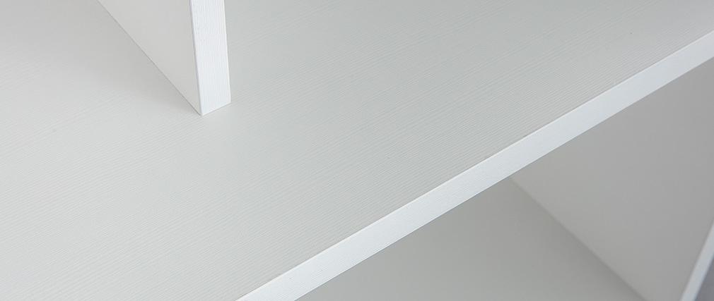 Bibliothèque design bois blanc EPURE