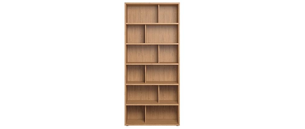 Bibliothèque design bois clair EPURE