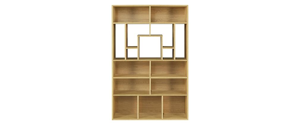 Bibliothèque design bois clair L120 cm WALANG