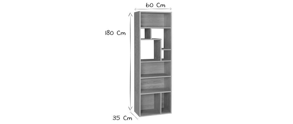 Bibliothèque design bois clair L60 cm WALANG