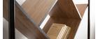 Bibliothèque design bois et métal noir TAULA