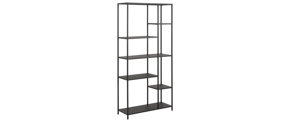 Bibliothèque design en métal noir H165 cm PODIUM