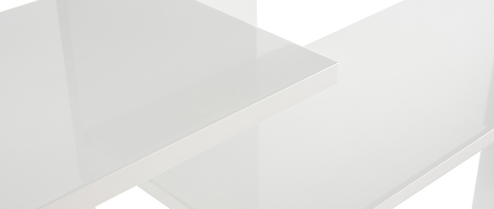 Bibliothèque design laquée blanche VIXY