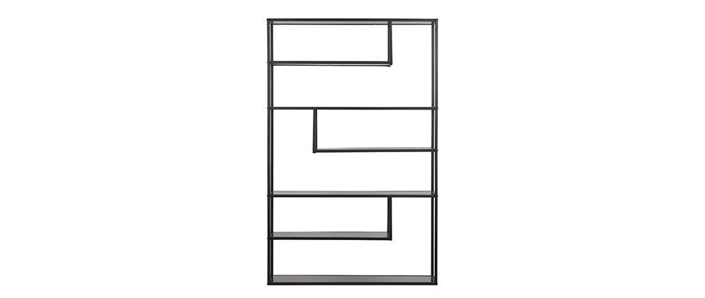 Bibliothèque design métal noir TETRIS