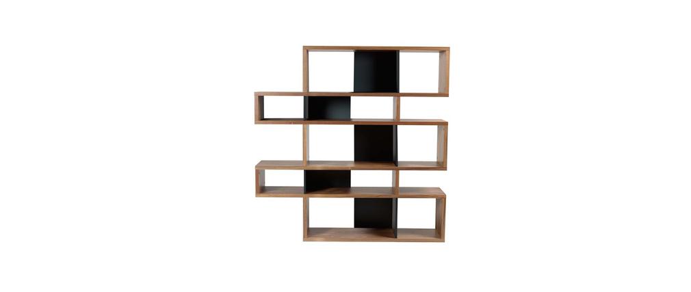 Biblioth que design noyer et noir mat 160cm meyer miliboo - Bibliotheque design soldes ...