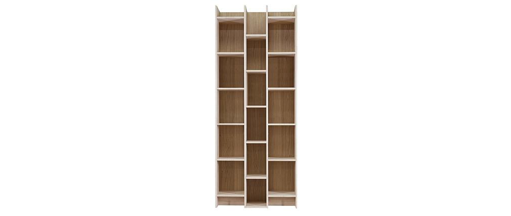 Bibliothèque design placage chêne CLIMB