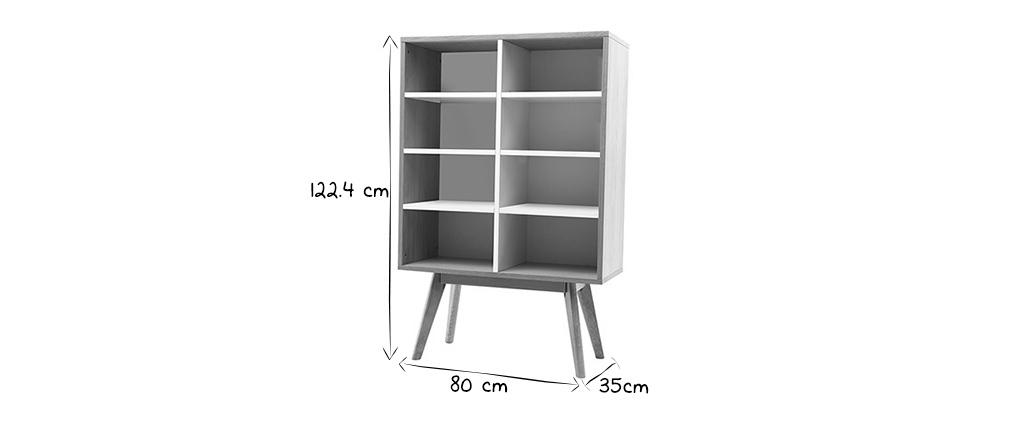 Chêne Et Bibliothèque Design Miliboo Helia Scandinave Blanc vYb7gyf6