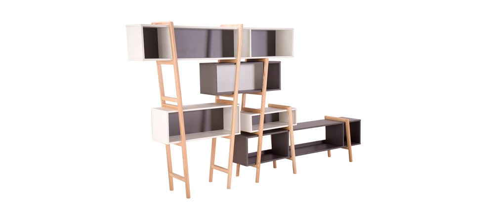 Bibliothèque design WOOD TANG  COMPO 7