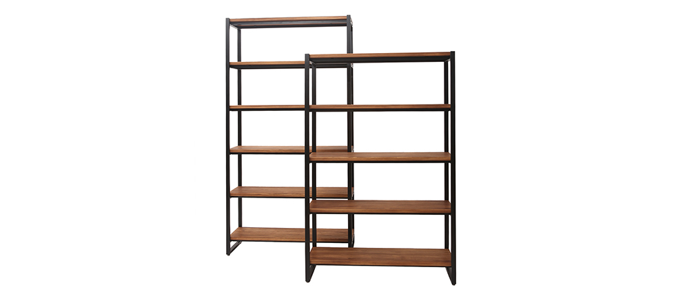 Bibliothèque industrielle métal et bois ARISTOTE