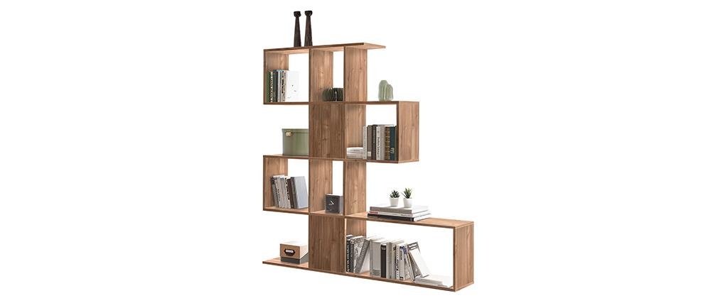 Bibliothèque séparateur design finition chêne H147 cm COMO